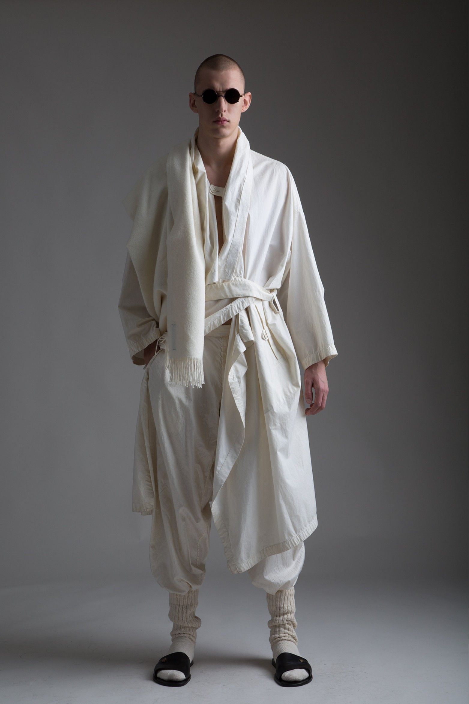 Trousers and coat from Issey Miyake Permanente collection. Image via Pinterest.