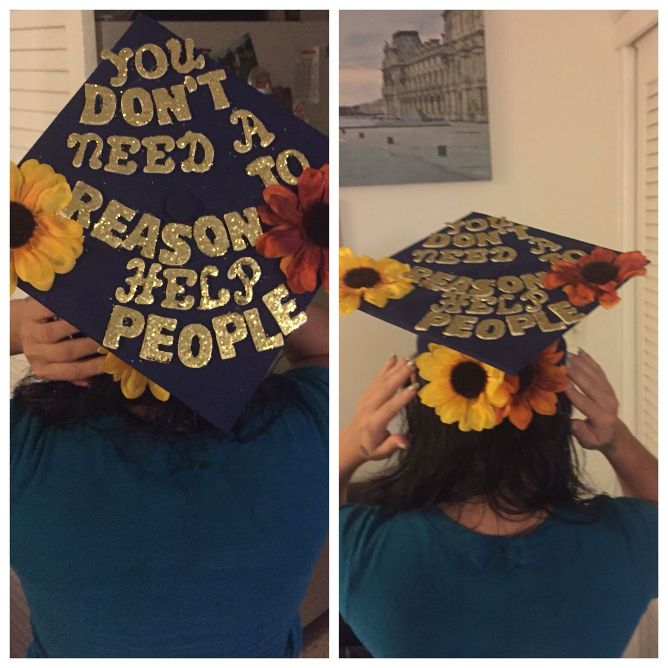 Decorating graduation cap ideas for teachers - Social Work Graduation Cap