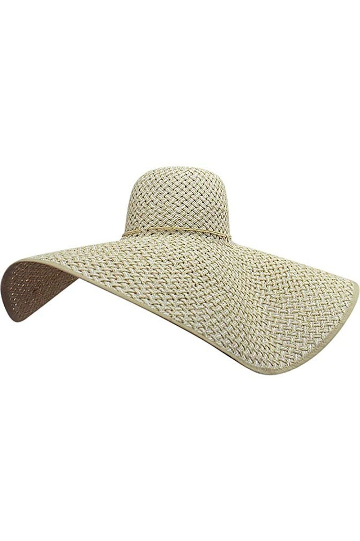 Cream   White Ultra Wide Brim Straw Floppy Hat - CP12FFTIZI1 - Hats   Caps a65120a71cb