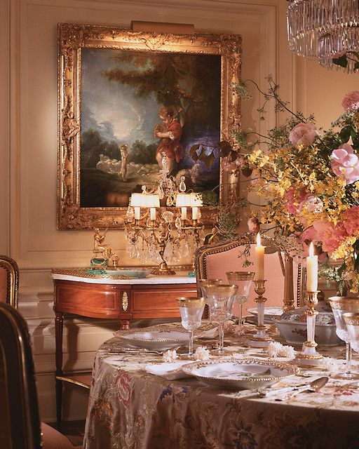 Delightful Liaisons - Eubanks combines century France with a fresh, updated  - traditional - dining room - miami - by William R. Eubanks Interior Design,  ...