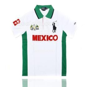 8a6ef927b Polo Ralph Lauren Men's Custom Fit Big Pony Mexico PRL Cup Short Sleeve Polo  Shirt - White