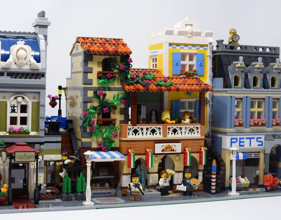 Pizzeria Modular Italian Restaurant CUSTOM INSTRUCTIONS ONLY for LEGO Bricks