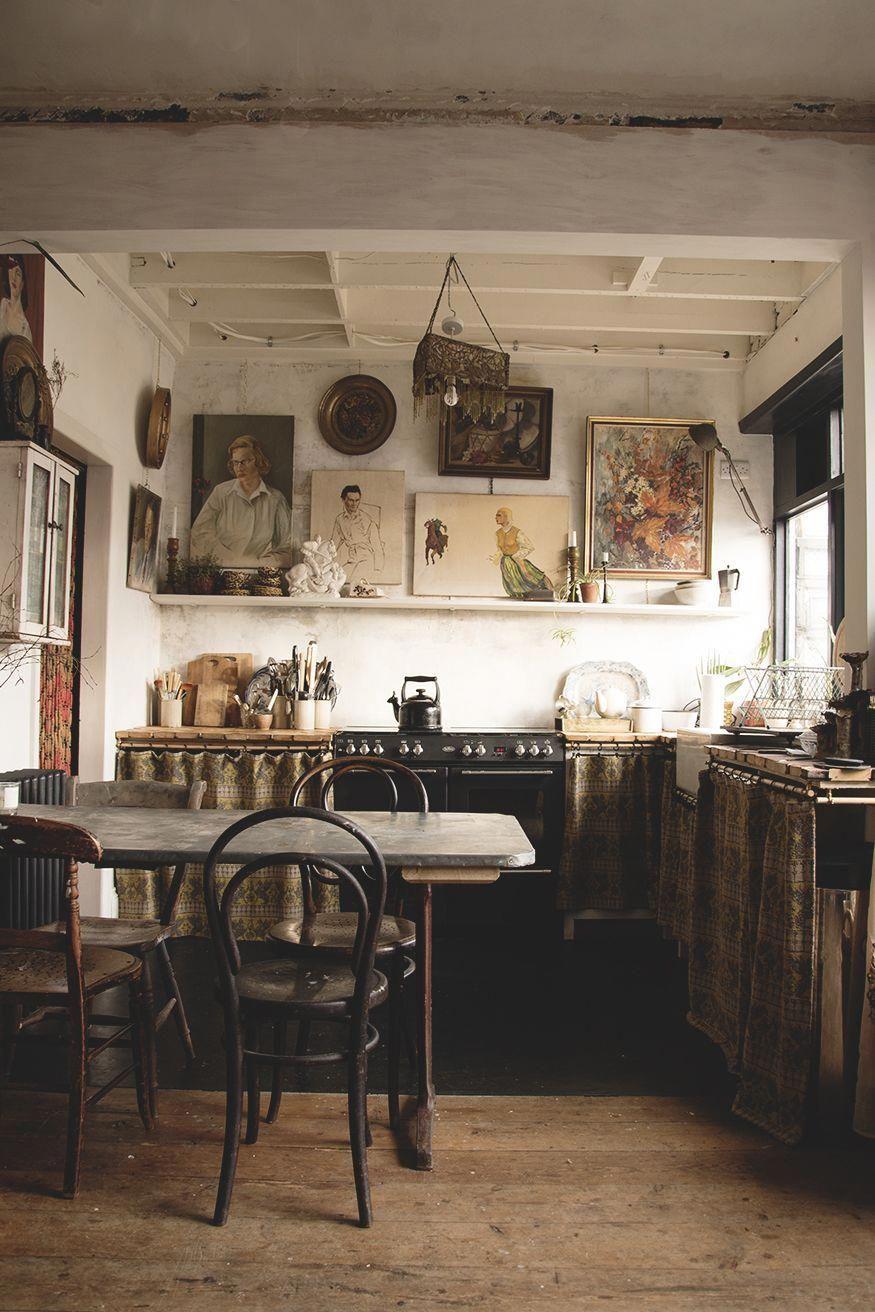 Antique Interior Design Farmhouse Style House Interior Rustic