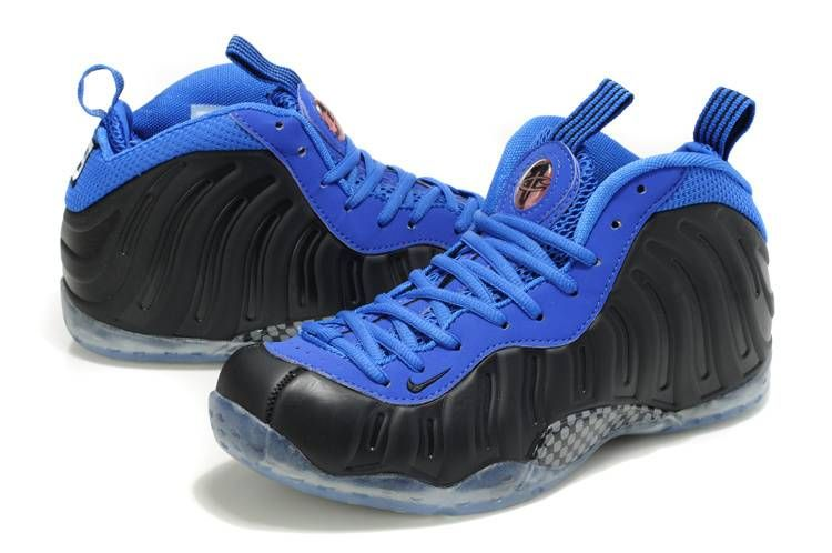 cd5f26371b0 nike air foamposite one blue carbon fiber sample side view