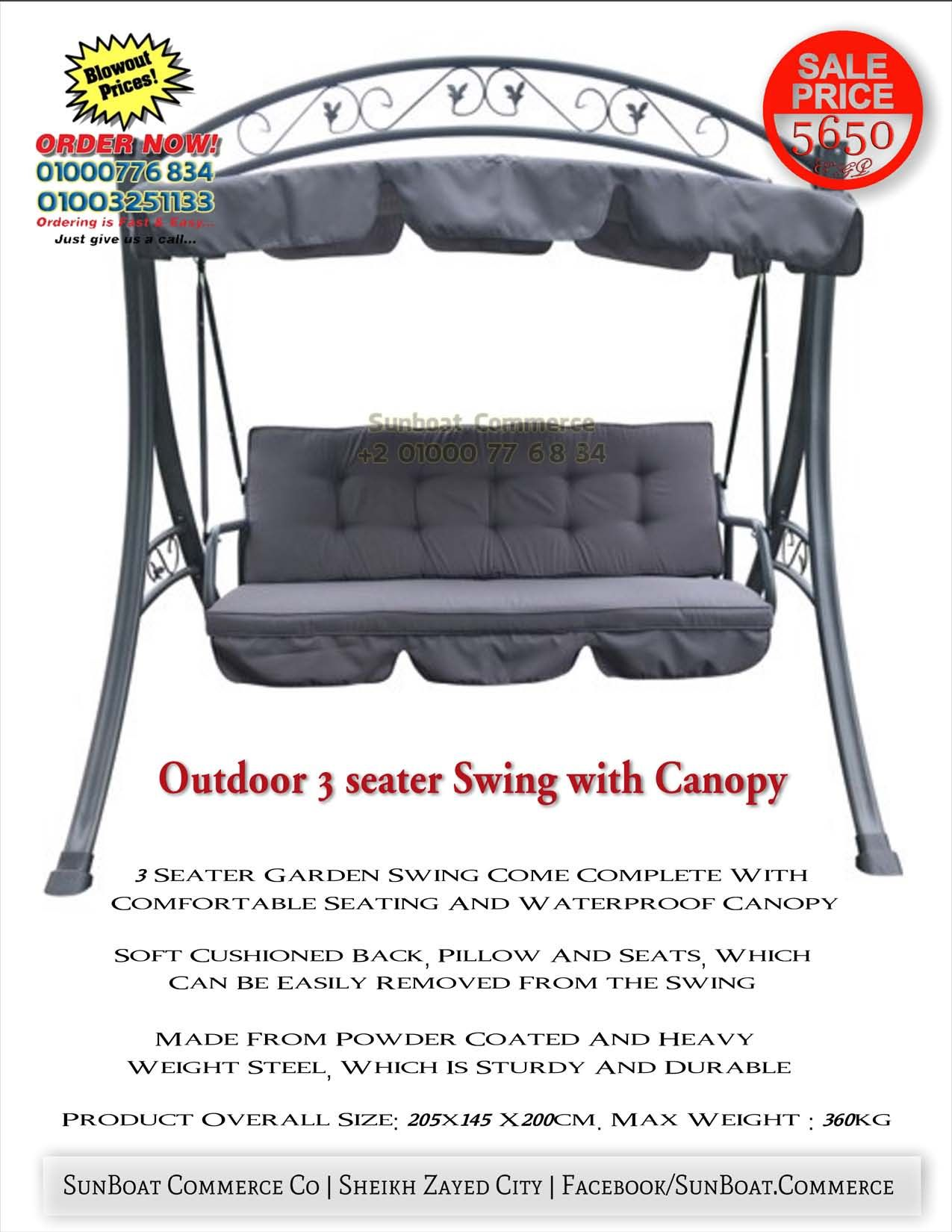 Outdoor seater Swing with Canopy More Info CALL