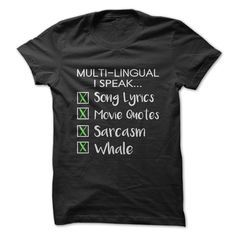 Best Funny Shirts Multi-Lingual T-Shirt