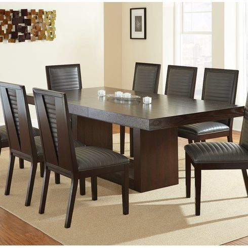 Maust Extendable Dining Table Contemporary Dining Room Sets Round Dining Room Round Dining Room Sets