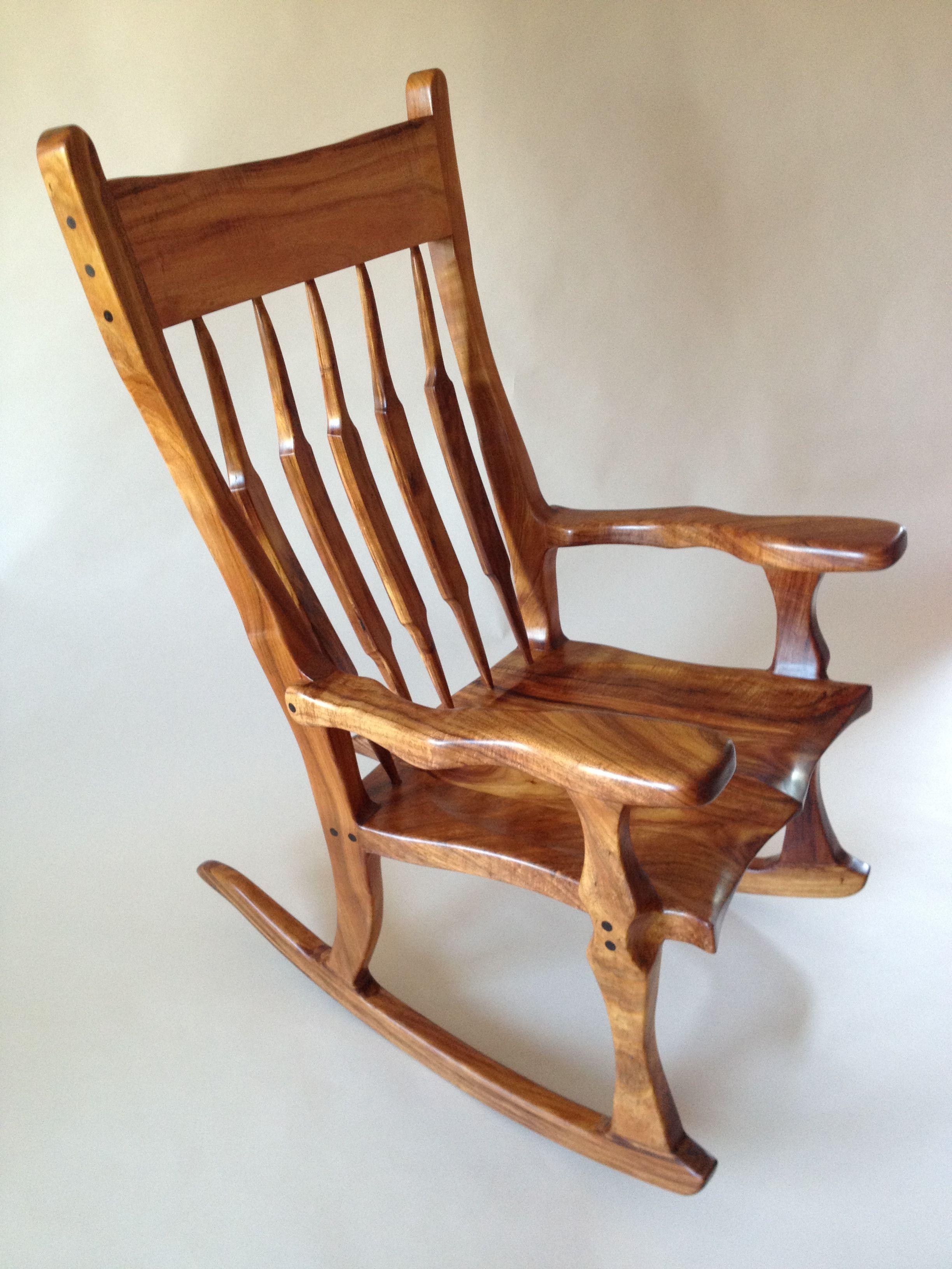 Tremendous Hawaiian Koa Wood Rocking Chair 6 000 Chairs Rocking Machost Co Dining Chair Design Ideas Machostcouk