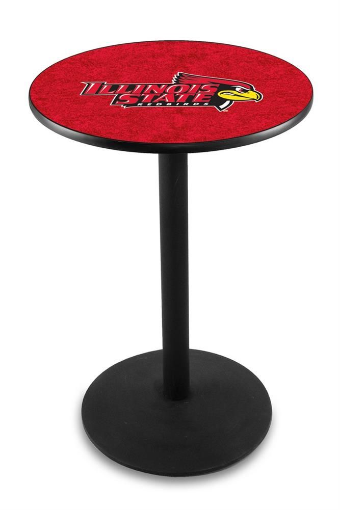 Louisville Cardinals Pub Table With Black Base and Chrome Edge