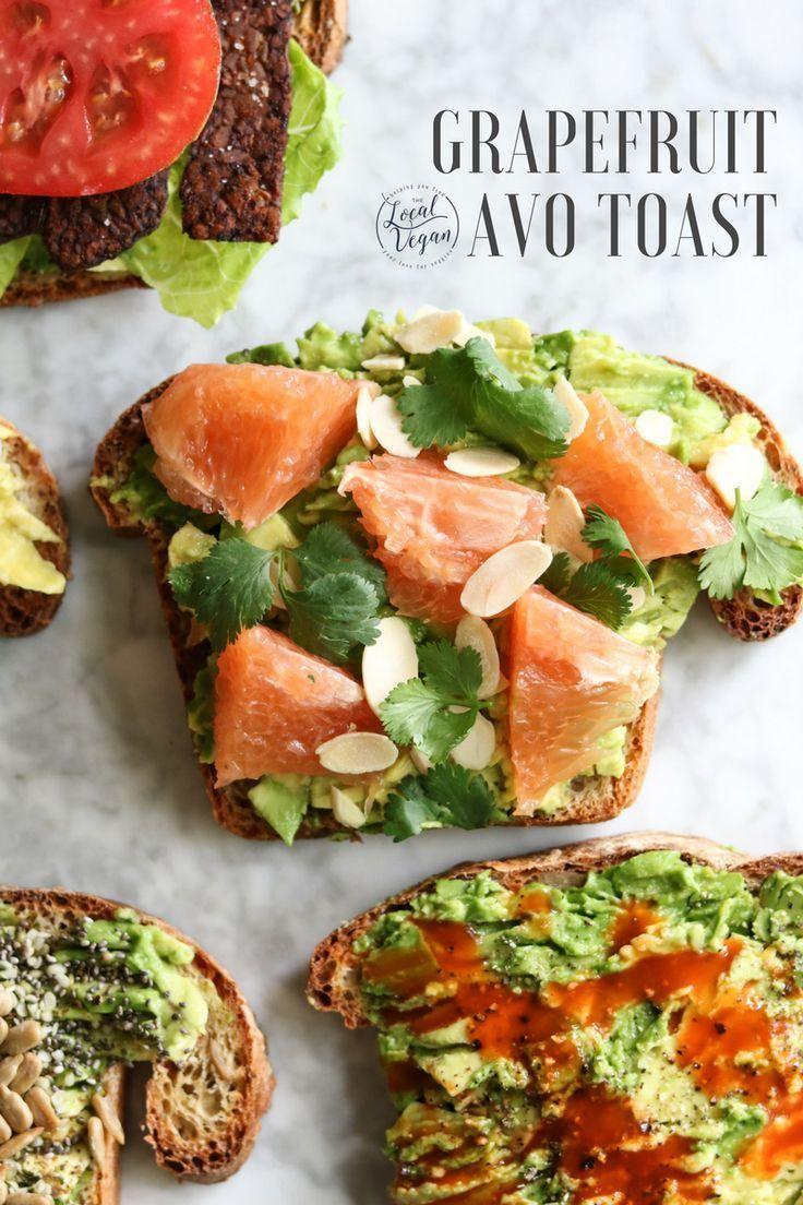 Grapefruit Avocado Toast Healthy Vegan Breakfast