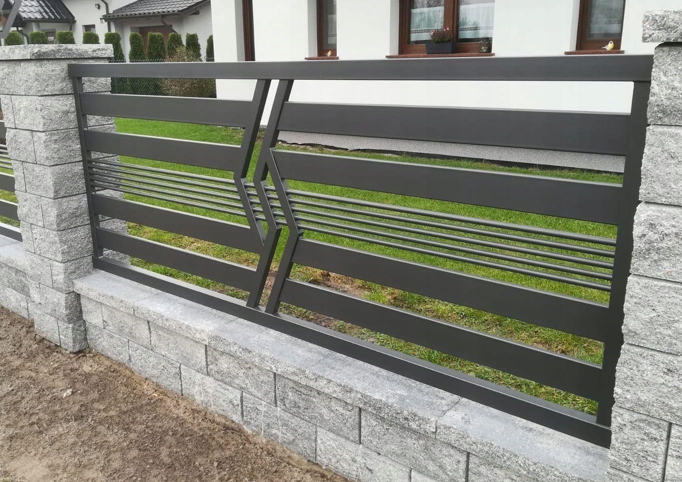 Nowoczesne Ogrodzenia Panel Plot Brama 369 Nha Cửa Cửa Sổ