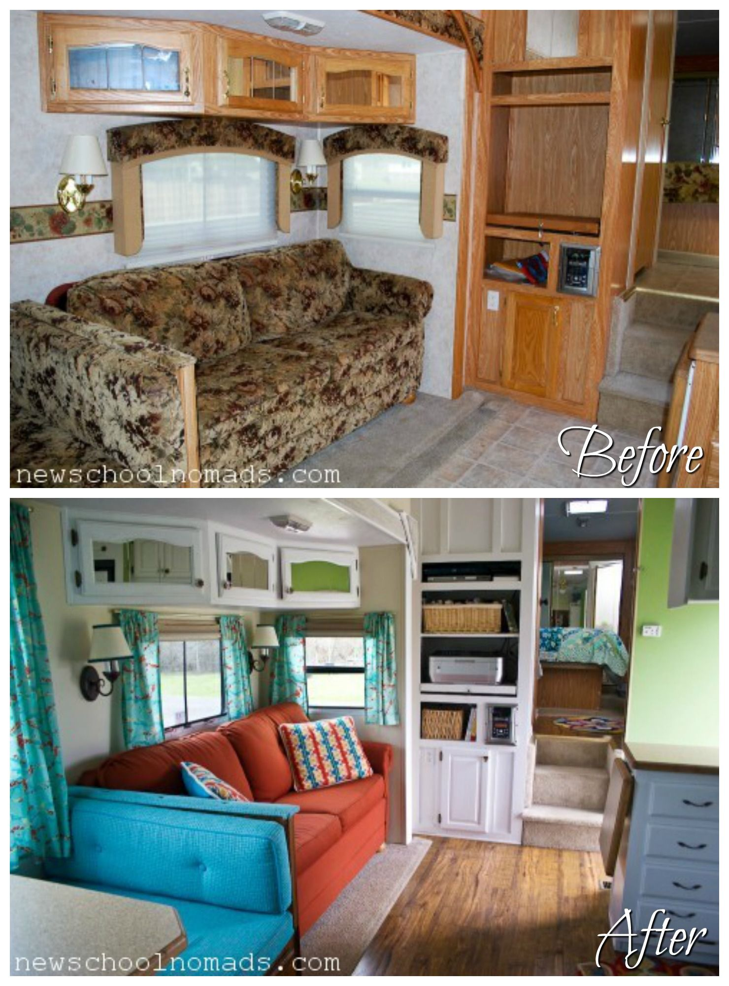 5th wheel master bedroom  Fifth Wheel Renovations  Wheels Rv and Camper makeover