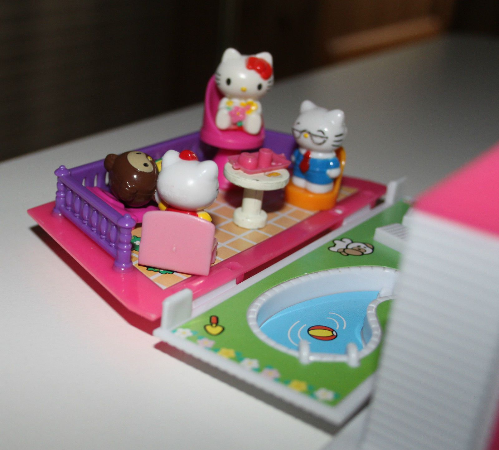 hello kitty furniture. Blue Box,Sanrio, Hello Kitty, Pink House Carry Along, Furniture, Figures Kitty Furniture