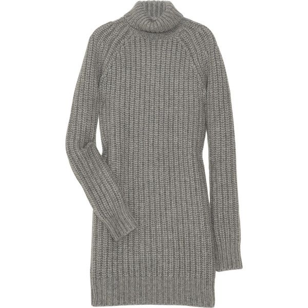 Michael Kors Knitted cashmere turtleneck sweater dress (710 CAD ...