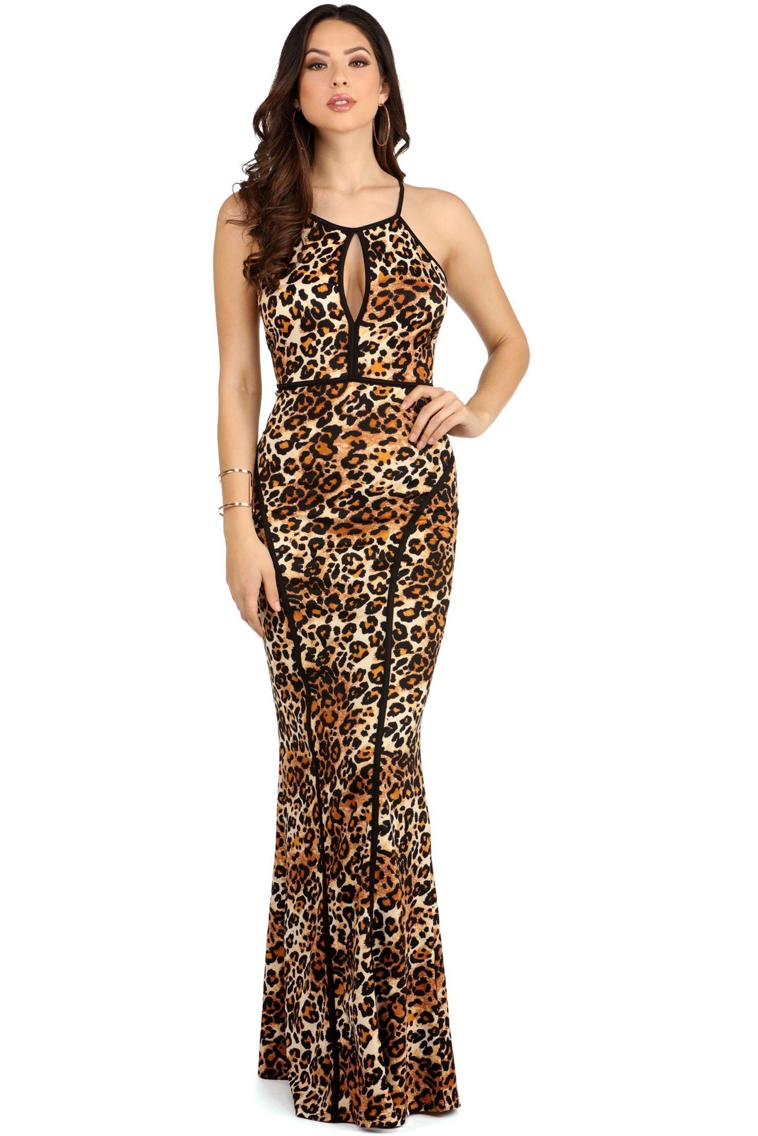 Final Sale Sasha Leopard Formal Dress Leopards Formal And Final Sale