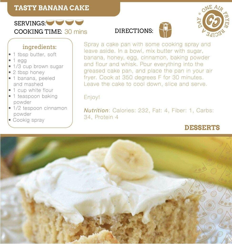 Air Fryer Tasty Banana Cake Recipe. Cooker cake, Air