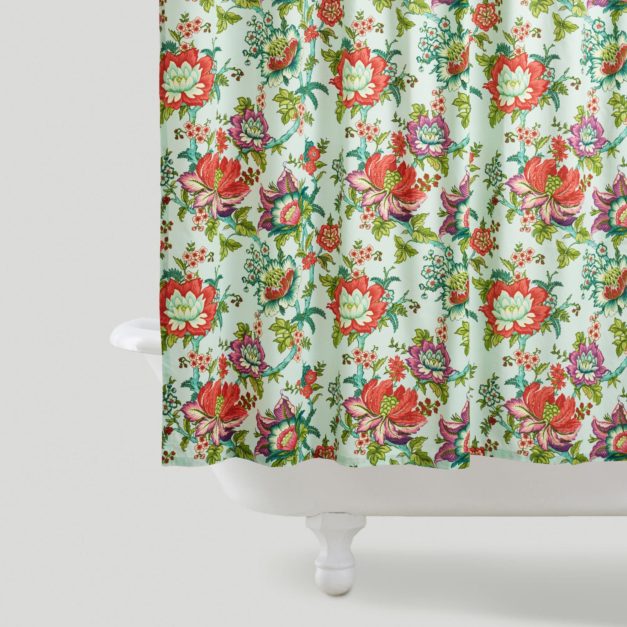 Victorian Floral Shower Curtain Floral Shower Curtains Curtain