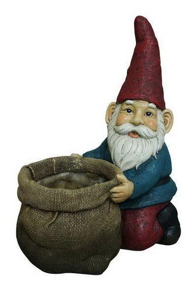 Garden Gnome Novelty Urn Planter