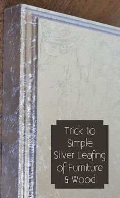 After many botched attempts at silver leafing, here are a few of the techniques that work best for me for clean looking and quick silver leafing. View the slideshow below to read more.