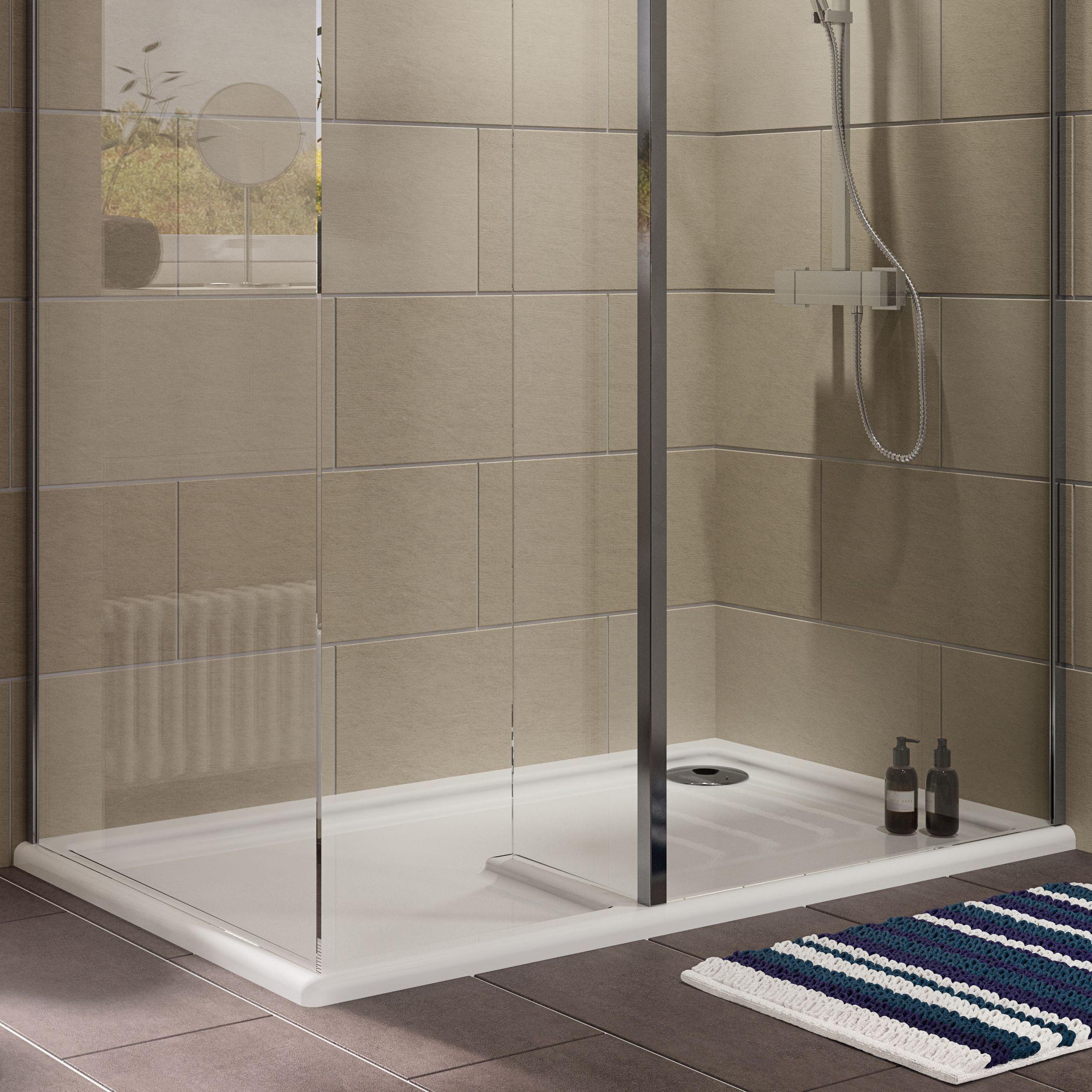 Cooke Lewis Ultra Low Profile Lh Rectangular Walk In Shower
