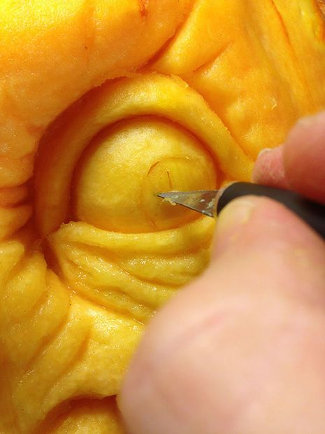 How To Carve A Realistic Face On A Pumpkin Pumpkin Sculpting 3d Pumpkin Carving Pumpkin Faces
