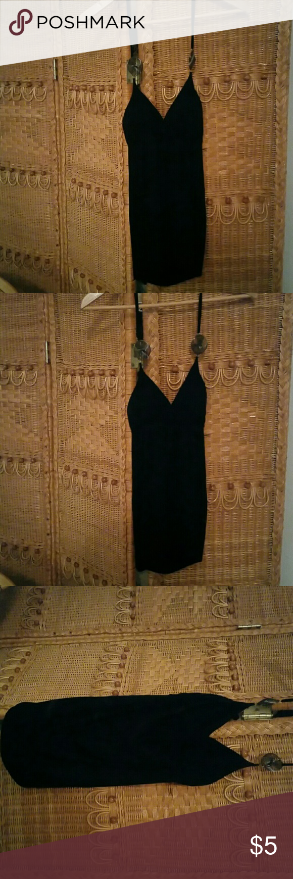Black halter top Cute black halter top with silver embellishments Tops Blouses