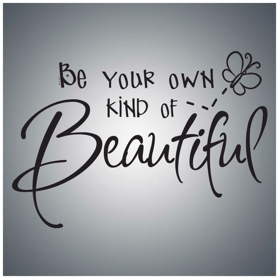 Vinyl lettering decals for crafts - Craft Paint Be Your Own Kind Of Beautiful Wall Quote Decal Vinyl Lettering Saying