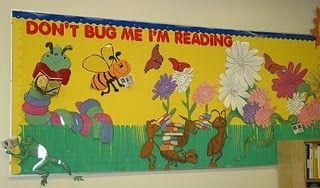 Garden Bulletin Board Ideas Bees themed classroom ideas printable classroom decorations dont bug me im reading spring bulletin board workwithnaturefo