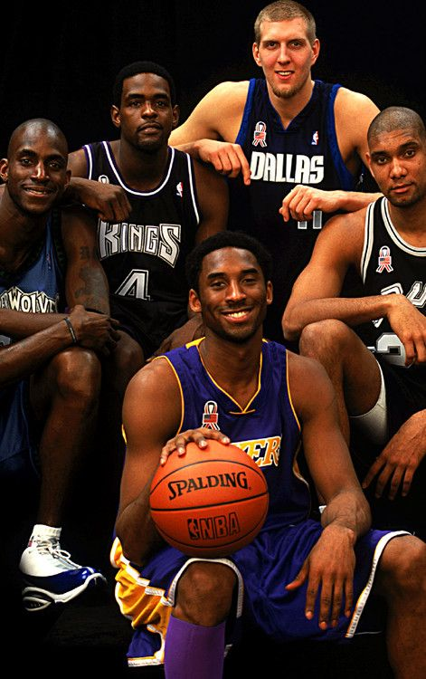 pretty nice 78b6a 38bba ... Timberwolves Chris Webber Sacramento Kings Kobe Bryant Los Angeles  Lakers Dirk Nowitzki Dallas Mavericks Tim Duncan San Antonio Spurs NBA All- Star Game