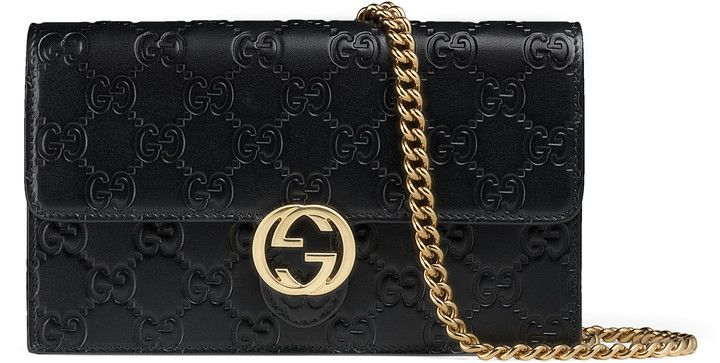 afd51f690cc Gucci Icon Gucci Signature chain wallet. Luxury. Sales. Discount. Black  Friday. Holiday. Christmas.