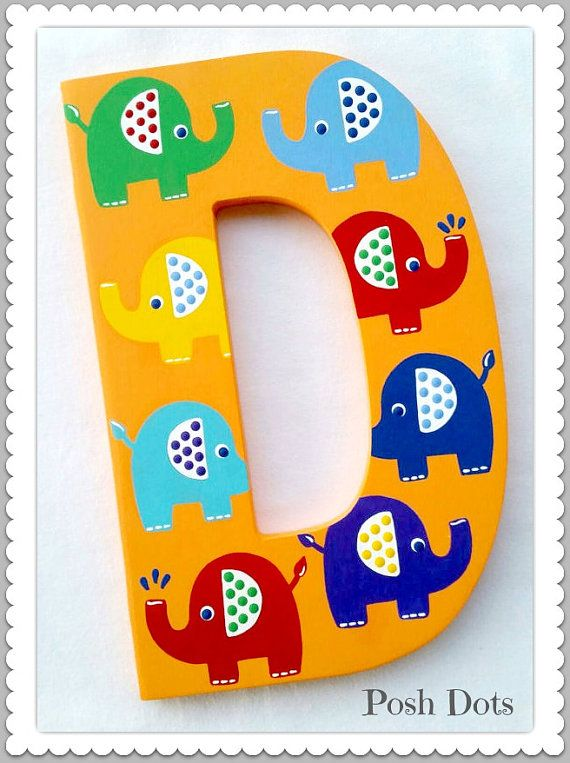 Playroom Letters Play Dream Read Wooden Wall Decor Painted Words Inspirational Elephant Priced Per Letter