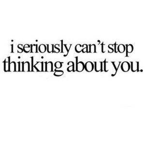 can't stop thinking of you