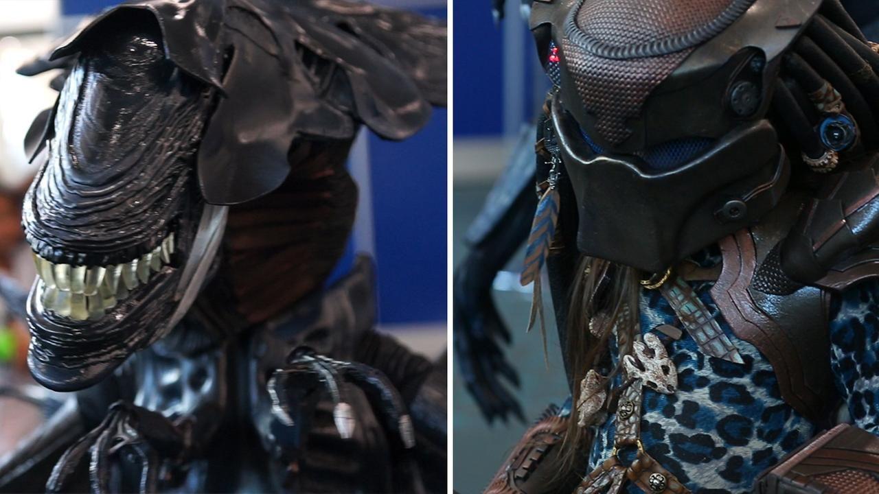 Kids cosplay as menacing monsters from alien and
