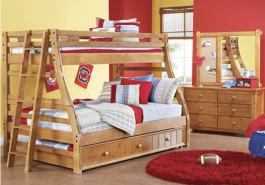 Shop For A Creekside Taffy Twin Full Bunk Bedroom At Rooms To Go Kids Find That Will Look Great In Y Bunk Beds With Stairs Full Bunk Beds Twin Full Bunk Bed