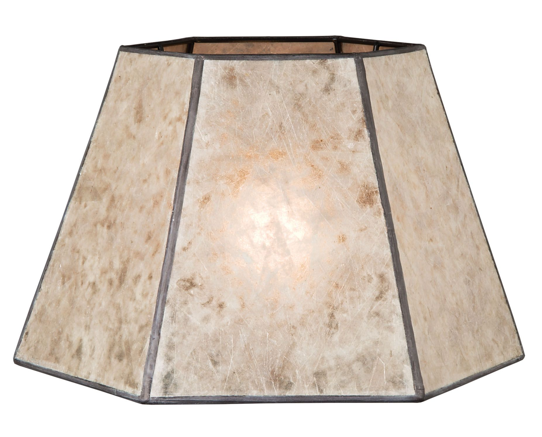 Mica Lamp Shade Enchanting Parchment Color Hexagon Style Mica Lampshade  Antique Lamp Supply Design Inspiration