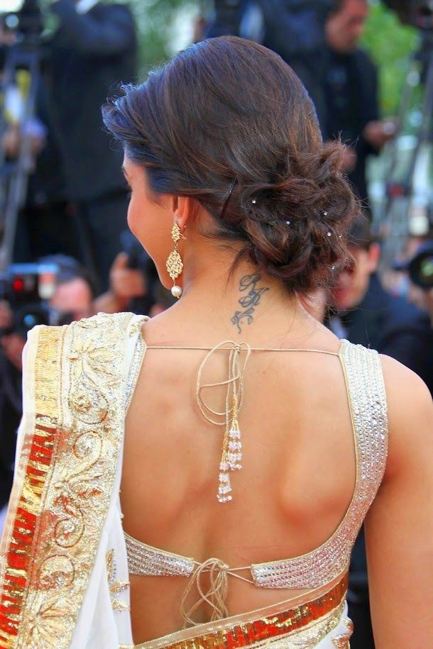 Deepika Padukone Latest Hot Cleveage Glamourous Spicy PhotoShoot Images HD | Saree hairstyles ...