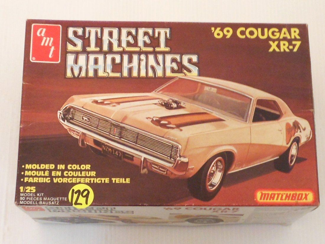 plastic model kit of a \'69 Cougar XR-7 by amt Matchbox series, kit ...