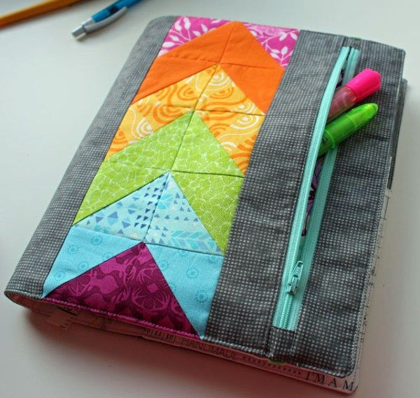 Book Cover Sewing Quartet : My zippy quilter s planner cover the crafty