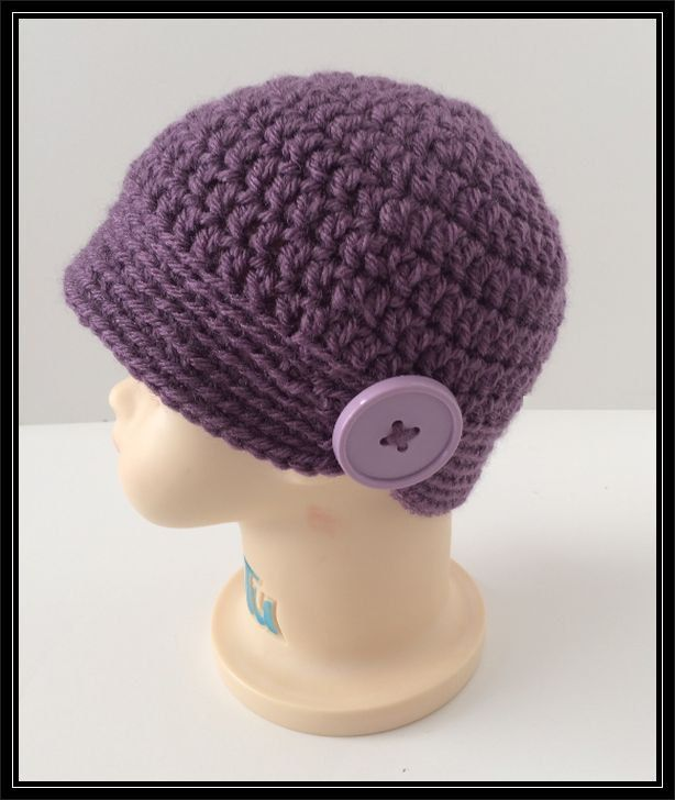 Crocheted Old Style Flapper Hat!  Ready to Ship!  Newborn to 6 months! by ItsNotWeird on Etsy