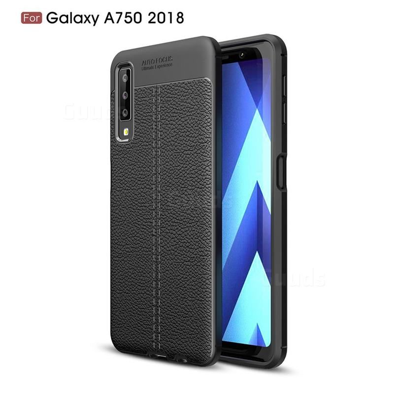 Luxury Auto Focus Litchi Texture Silicone Tpu Back Cover For Samsung Galaxy A7 2018 Black Galaxy A7 2018 Cases Guuds Samsung Galaxy Samsung Galaxy Tablet Galaxy Phone Cases