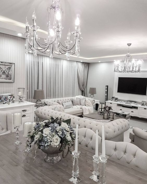 Fancy Living Rooms Silver Room White Home