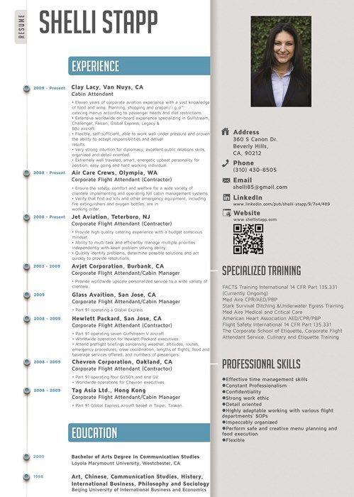 Flight Attendant Resume Template Free Resume Format Templates - sample flight attendant resume