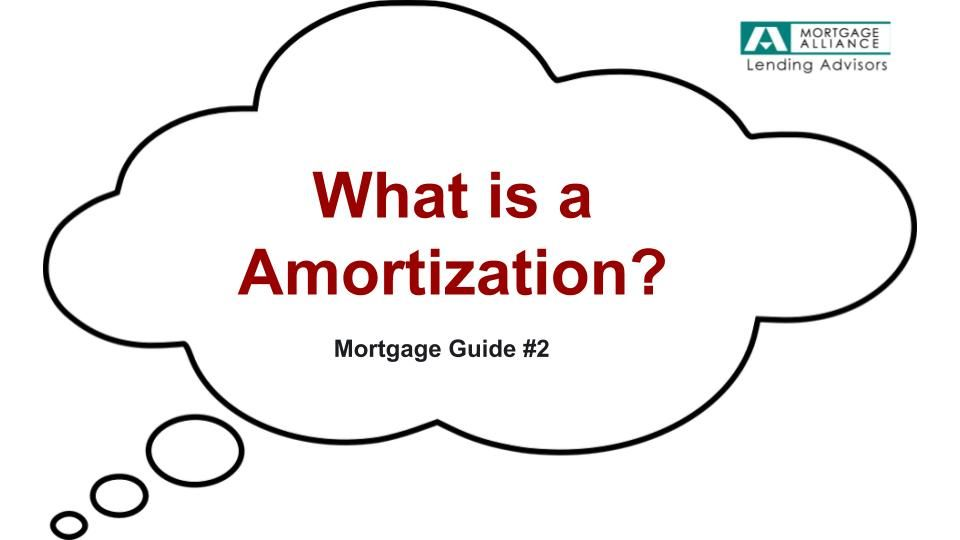 Amortization is the amount of time required to pay off