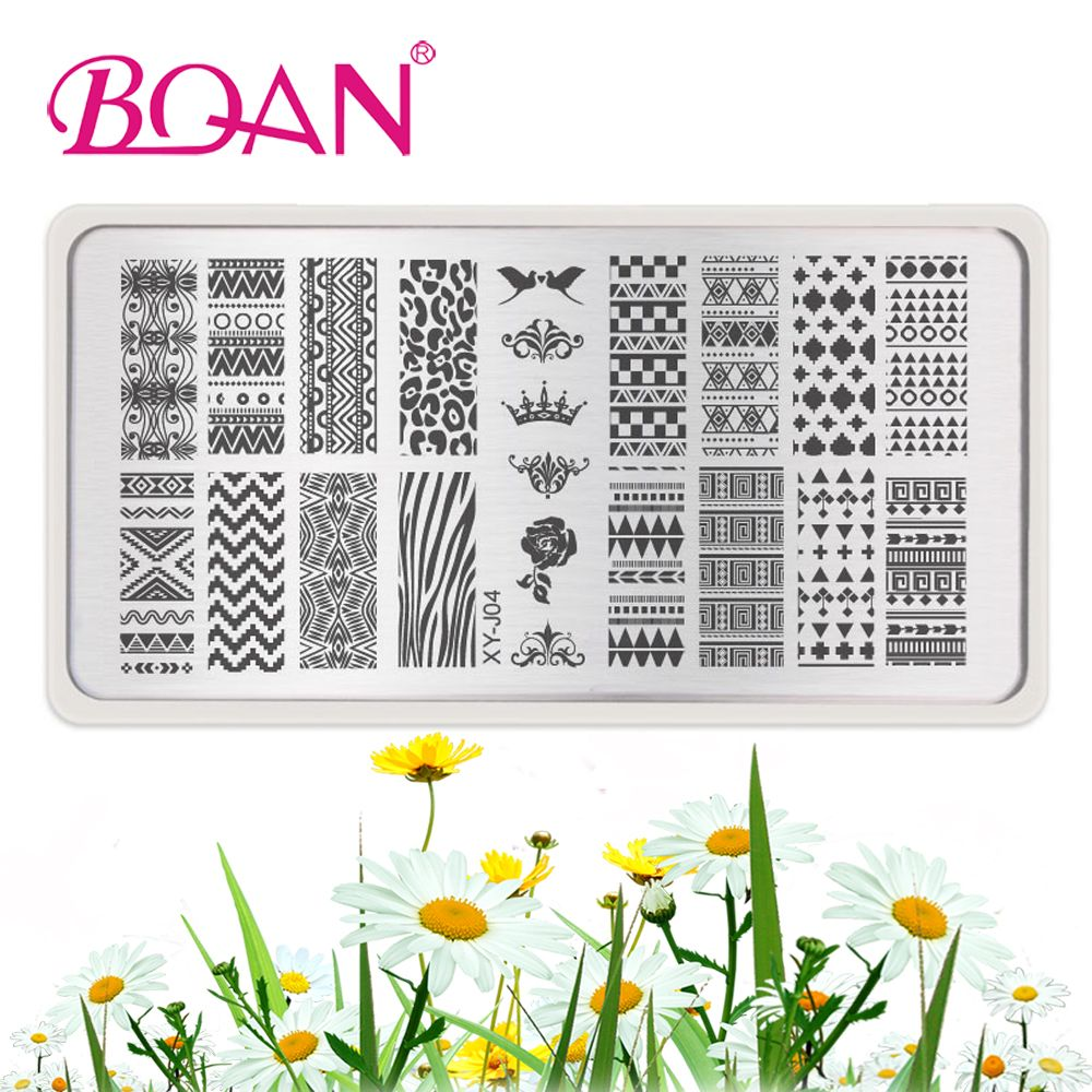 2017 New XY-J04 Stainless Steel Nail Art Plate 6*12CM Nail Stamping ...