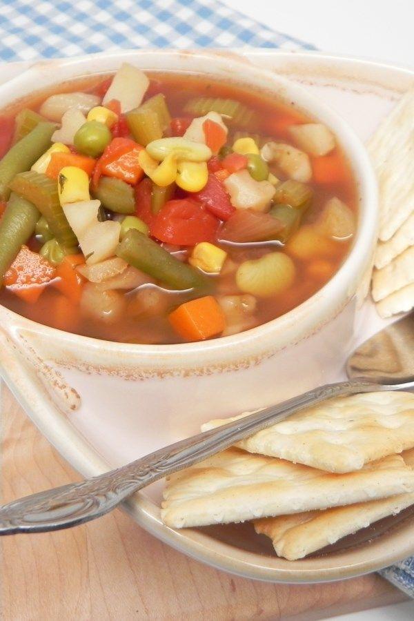Instant Pot® Frozen Vegetable Soup Recipe