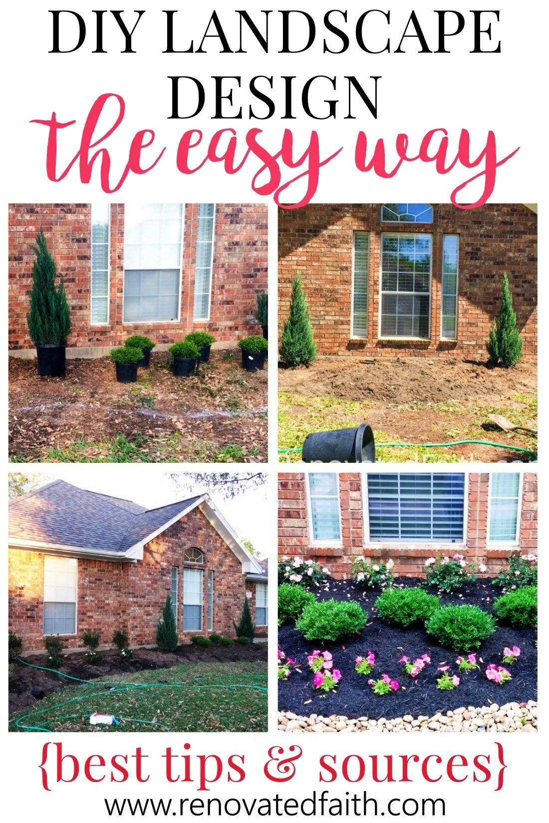 Simple Front Yard Landscaping Ideas On A Budget Diy Landscape Design In 2020 Front Yard Landscaping Simple Yard Landscaping Simple Diy Landscaping