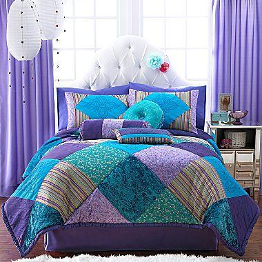 Jcp Seventeen Crystal Violet Comforter Set Accessories Teal