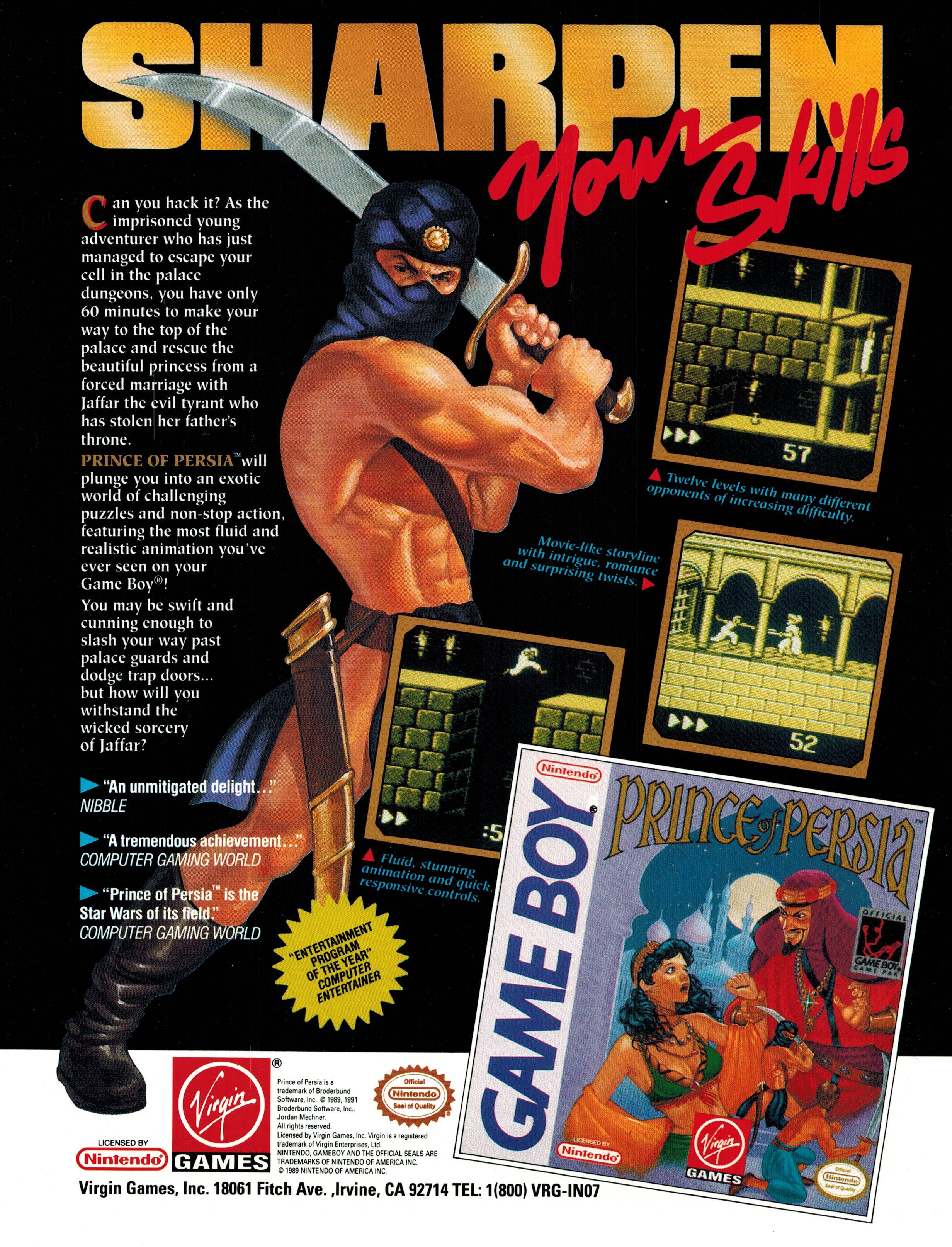 Prince Of Persia Ad Prince Of Persia Poster Ads Classic Video Games