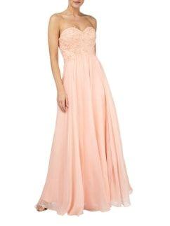 Luxuar Abendkleid mit Besatz aus floraler Häkelspitze in ...