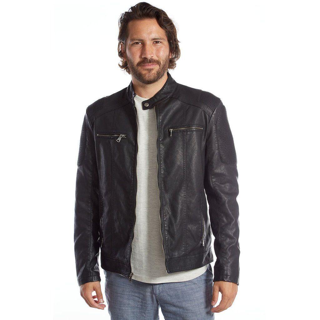 Men S Vegan Leather Moto Jacket Justin Collection Vegan Leather Jacket Vegan Leather Moto Jacket Leather Jacket [ 1024 x 1024 Pixel ]